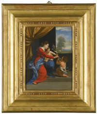 madonna and child with the infant saint john the baptist by guido reni