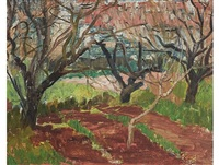 landscape with trees by freida lock