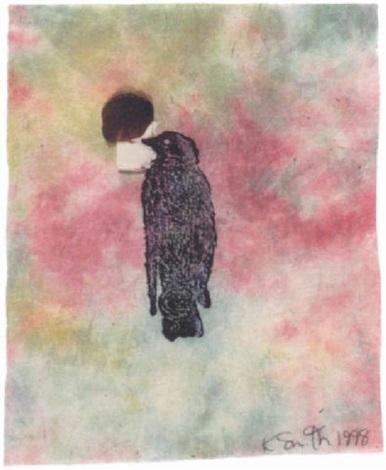 bird with wax stamp by kiki smith