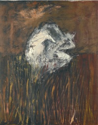 figures in a landscape by francis bacon