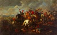 combat entre turcs et chrétiens by francois hillegaer