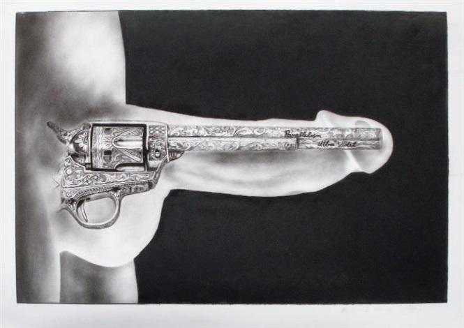 pistol/phallus (diptych) by ultra violet