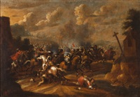 battle scene by jacques courtois