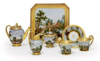 tete-a-tete tea service (set of 7) by batenin factory