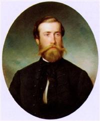 portrait eines herrn mit schnurrbart by ernst lafite