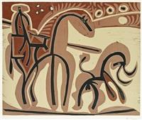 picador et taureau by pablo picasso
