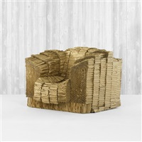 grandpa beaver armchair from the experimental edges series by frank gehry