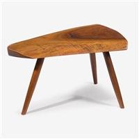 walnut plank stool, 1983 by george nakashima