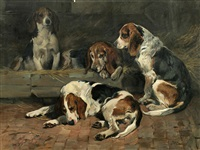 beagles - father of the pack by john emms