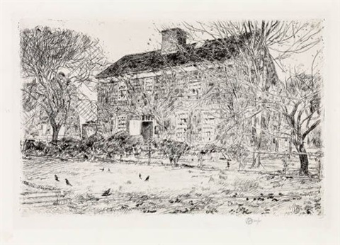 the home sweet home cottage no 2 easthampton by childe hassam