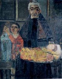 grand-mère et ses petits enfants by cricor garabetian