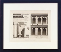 fragment d'architecture antique (set of 6 works) by hector jean baptiste espouy