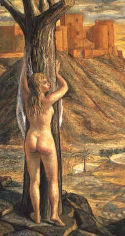 mujer desnuda a los pies de la alcazaba by jesus de perceval