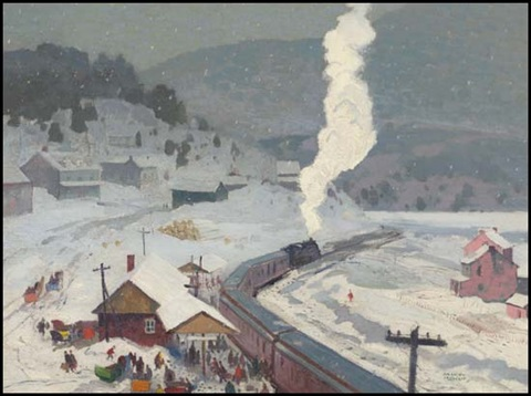 arriving at the station by george franklin arbuckle
