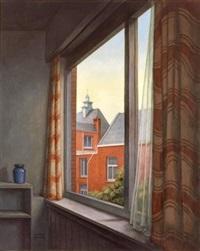 landscape through the window by yacov gabay