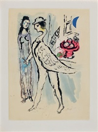 de mauvais sujets (folio w/ 10 etchings) by marc chagall