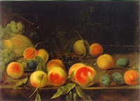 stilleben mit früchten by dominicus van der smissen