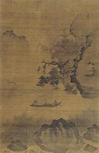 泛舟图 by jiang song