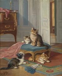 die katzenfamilie by léon charles huber