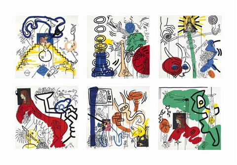 william s. burroughs, apocalypse (set of 10) by keith haring