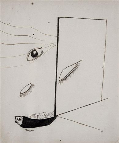 surrealistische komposition by toyen maria cerminova