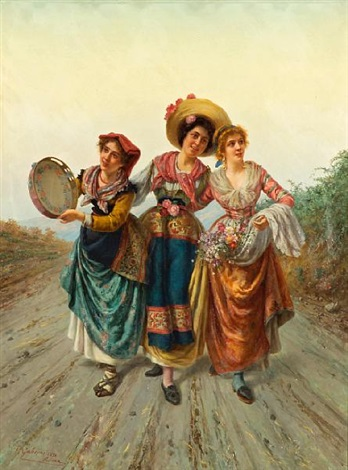 three young beauties by pietro gabrini