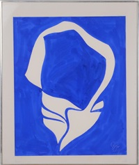 untitled (blue composition) by jack youngerman