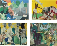 ritual bayou series (+ 5 others; 6 works) by romare bearden