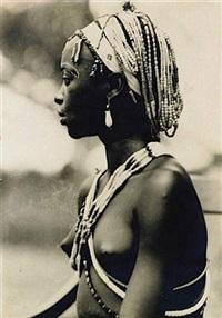 portrait d'une femme africaine by kazimierz zagorski