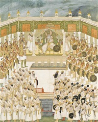 a large painting of an imperial durbar by anonymous-indian (19)