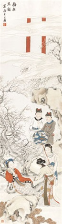 梅妆点额 by huang shanshou