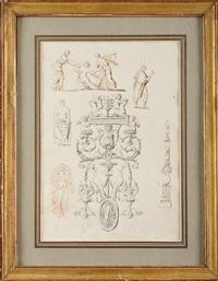 etudes de personnages à l'antique (study) by pierre françois léonard fontaine