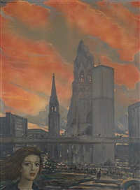 evening in berlin by ilya glazunov