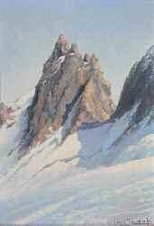 aiguille dans les alpes by louis jacob