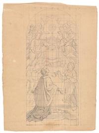 entwurf für ein altarbild mit dem hl. aloisius und einer schar musizierender engel by josef von führich