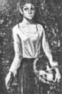 girl with basket by jean-pierre serrier