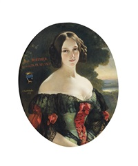 portrait d'anna berthier, comtesse de plaisance by franz xaver winterhalter