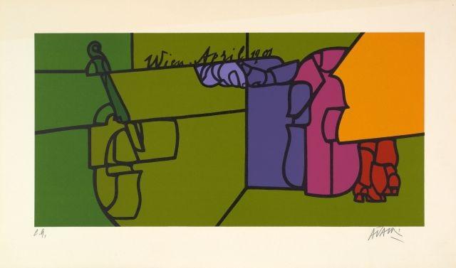 etude pour les cours de tennis et etude pour un portrait danton von webern 2 works by valerio adami