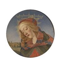 bildnis der madonna del magnificat (after sandro botticelli) by carlo facchinetti