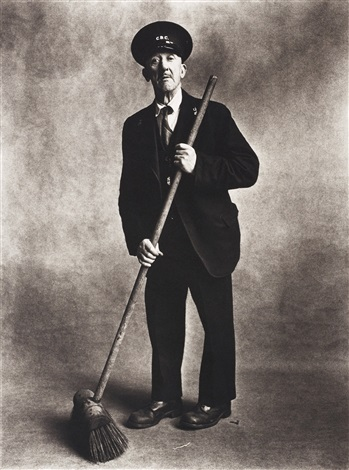 road sweeper, london by irving penn