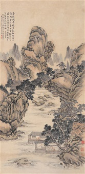 山水 (landscape) by liu huang