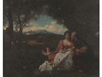 the lovers by ferdinand heilbuth