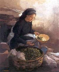 la vendedora de pimientos de padrón by manuel alcover