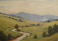 schwarzwaldlandschaft by julius heffner