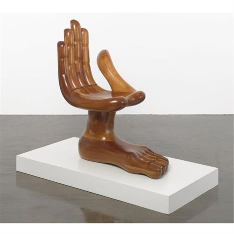 Superb Hand And Foot Chair By Pedro Friedeberg