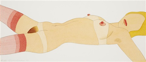 great american nude n146 by tom wesselmann