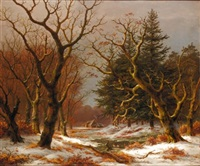 winter woodland by caesar bimmermann