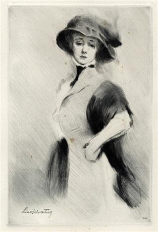 giovane donna in abiti eleganti allo specchio by lino selvatico