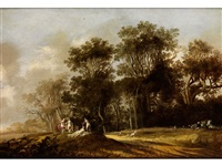 landschaft mit nymphen by anthony jansz van der croos