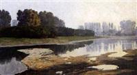 paysage de bord de rivière by l. hubingen